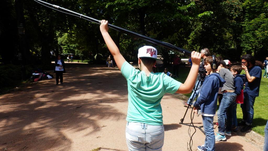 O MUNDO À NOSSA VOLTA - Cinema, cem anos de juventude - Escola Secundária Passos Manuel - Filmagem filme-ensaio @ Lisboa