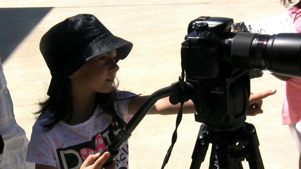 O MUNDO À NOSSA VOLTA - Cinema, cem anos de juventude - Escola E.B.1/JI Vale da Amoreira, Moita - Filmagem filme-ensaio 2 @ CEA - Centro de Experimentação Artística