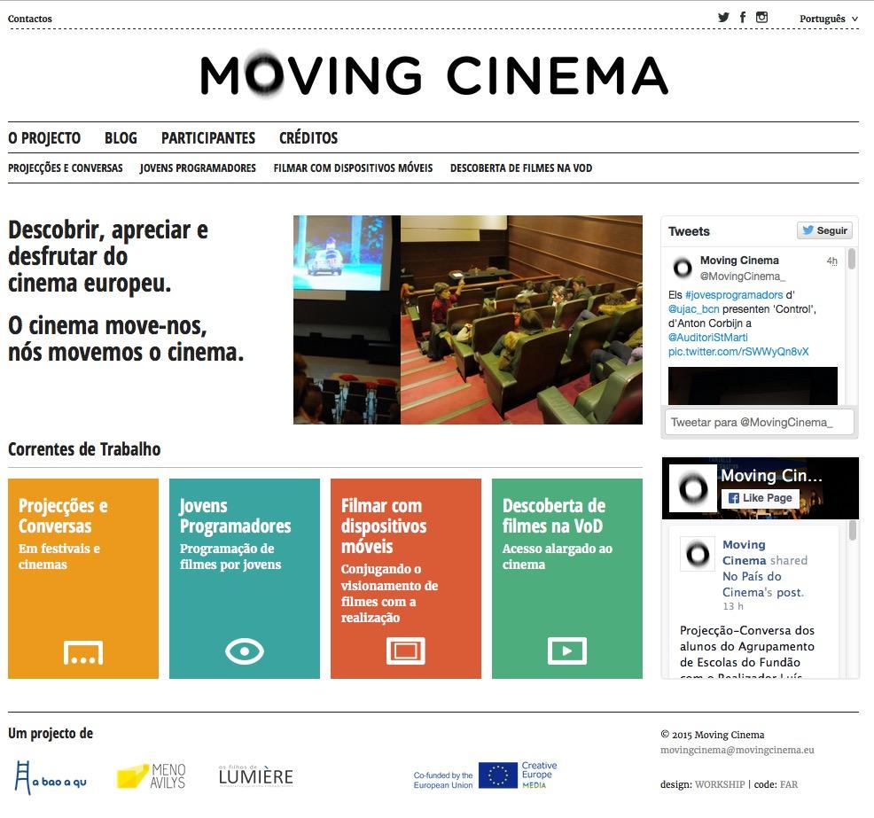 MOVING CINEMA - Encontro com Parceiros @ Os Filhos de Lumiere