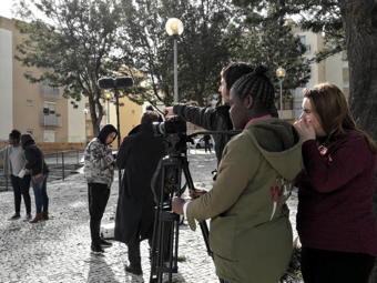O MUNDO À NOSSA VOLTA - Cinema cem anos de juventude - Filmagem exercícios @ Escola Básica Moinhos da Arroja