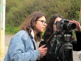 O MUNDO À NOSSA VOLTA - Cinema cem anos de juventude - Filmagem exercícios @ Escola Secundária Miguel Torga