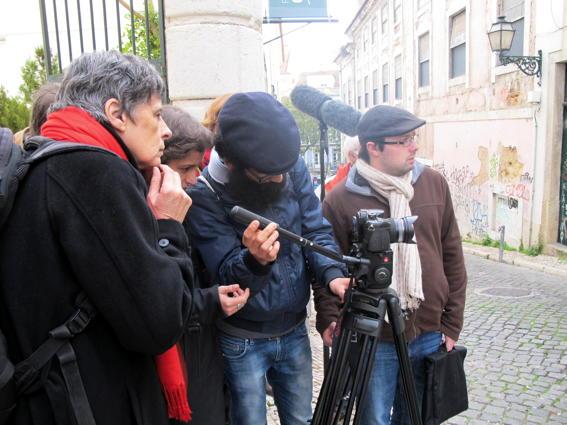 CinEEd IV - Crescer com o Cinema - Filmagem @ Rua das Gaivotas / Conde Barão - Lisboa