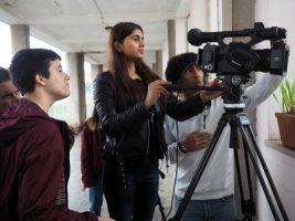 O MUNDO À NOSSA VOLTA - Cinema cem anos de Juventude - Filmagem filme-ensaio @ Escola Secundária Marquês de Pombal
