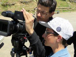 O MUNDO À NOSSA VOLTA - Cinema cem anos de Juventude - Filmagem filme-ensaio @ Escola Secundária Matias Aires