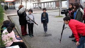 O MUNDO À NOSSA VOLTA / Cinema, cem anos de juventude - Filmagens exercícios @ Escola E.B.2.3 André de Resende - Évora