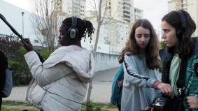 O MUNDO À NOSSA VOLTA / Cinema, cem anos de juventude - Sons exercícios @ Escola Básica E.B.2.3 Moinhos da Arroja - Odivelas