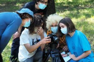 O MUNDO À NOSSA VOLTA / Cinema, cem anos de juventude - Filmagens filme-ensaio @ Escola Secundária de Camões